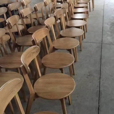 进口白橡实木餐椅厂家 实木交叉餐椅子 北欧式椅子系列 高端白橡餐椅