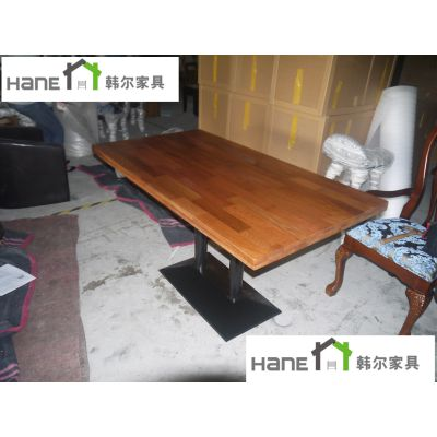 工厂直销餐厅四人实木桌子,中餐厅桌子,中餐厅桌椅搭配,上海韩尔品牌