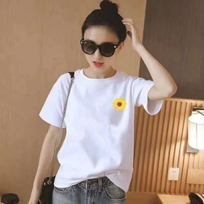 广东服装厂家大量T恤现货供应 韩版大码时尚休闲女装T恤批发