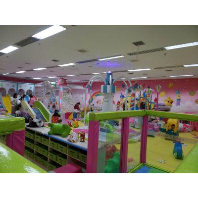 淘气堡排行 莱芜儿童淘气堡亲子互动 儿童木质滑梯