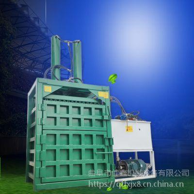 佳鑫60吨塑料瓶打包机 稻草秸秆全自动压扁机 美术涂料桶压块机厂家直销