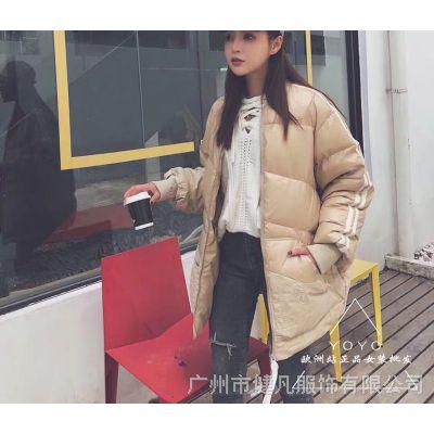 COCO品牌羽绒服19冬电视直播品牌折扣女装走份批发