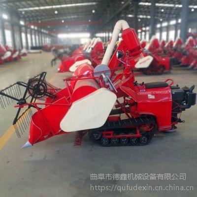 山区丘陵小地块专用履带式割稻机 全自动液压控制水稻联合收割机