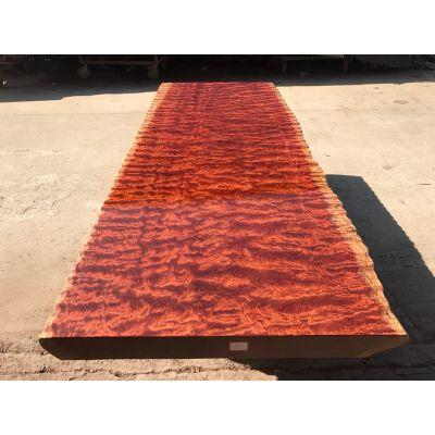 供应精品巴花实木大板茶桌256长97宽 原木大班台办公主管桌餐桌简约现代