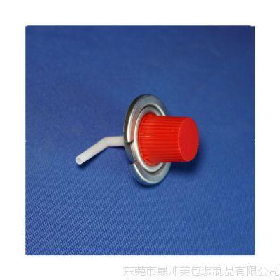 气雾罐卡式阀门 卡式炉气阀 气雾剂配件 铁阀 瓦斯气罐配件 阀门 小红盖