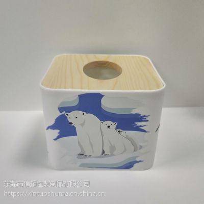 PP料纸巾盒水转印加工定制配套成品 个性订制水贴纸加工厂家