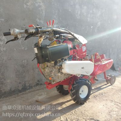 海拉尔市手推式大葱开沟机 动力强劲柴油田园管理机