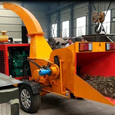 牵引式碎木机哪里便宜移动式柴油机耕晖中碎机