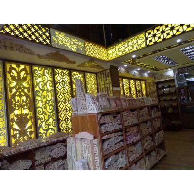 室内装修天花吊顶通花板-镂空板-雕花板-实木花格给人舒适感觉效果