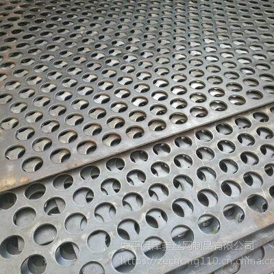 室内装饰冲孔网 镀锌板加工 直排圆孔冲孔网