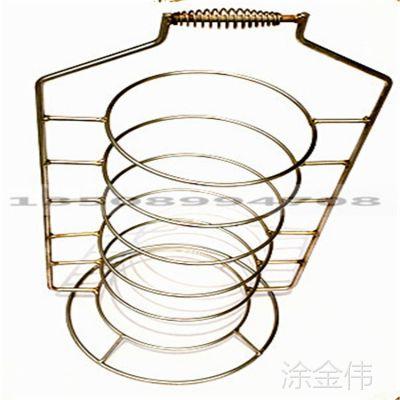 铁艺置盘提菜架 临沂铁线菜提菜架批发 厨房电镀置物架 菜碟架