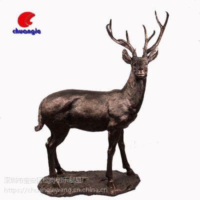 树脂仿真批发定制家居摆件动物雕塑欧式创意小鹿造型