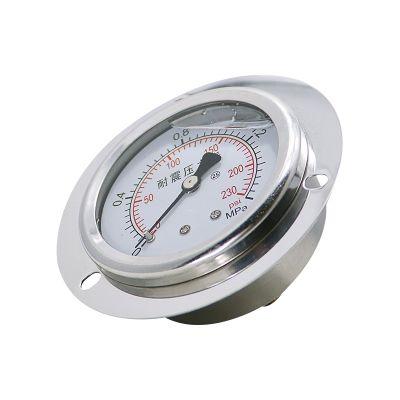 面板式管道式压力表 反渗透净水不锈钢防震压力表
