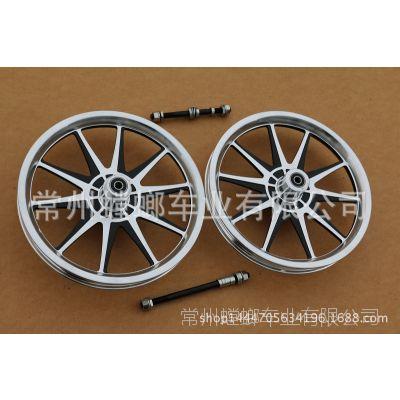 批发自行车14寸一体铝合金轮电动车14铝轮一体铝轮14寸铝合金轮毂