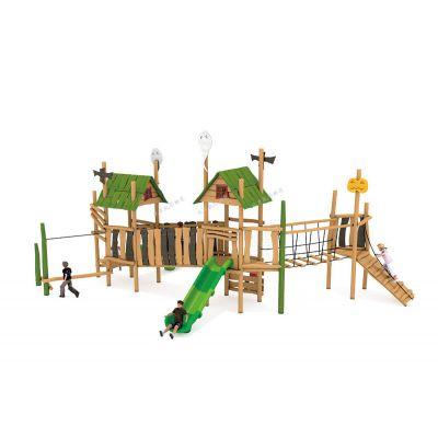北京凯思游乐厂家直销儿童室内木质滑梯,户外木质组合滑梯可加工定做