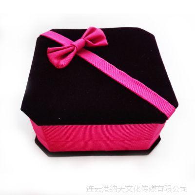 水晶手链饰品盒 绒布盒 翻盖盒 珠宝手饰高档盒子