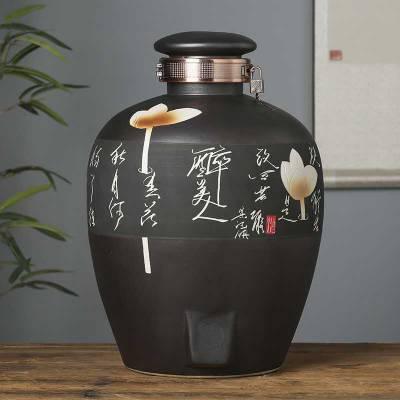 大量生产高温20斤装陶瓷酒坛 陶瓷酒瓶酒坛定制密封不漏