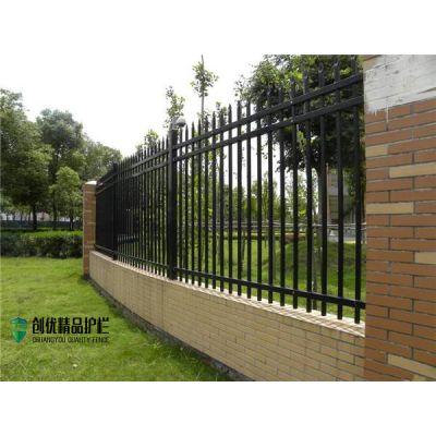厂家定做铁艺围栏 农村院墙锌钢防护栏 带尖式方管护栏规格全