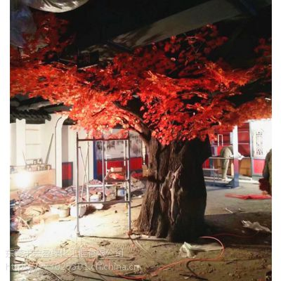 仿真红枫树大型枫树榕树桃花树商场影视装饰摆放道具仿真枫树