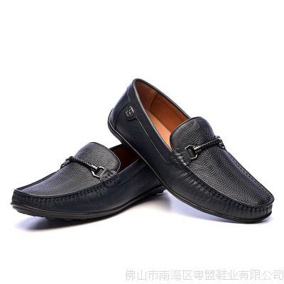 厂家直销男士头层牛皮日常豆豆鞋驾车透气男鞋软底牛皮内里皮鞋
