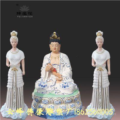 河南大型玻璃钢佛像雕塑厂供应 三霄娘娘 送子奶奶神像 地母娘娘