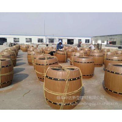 水泥仿木户外组合花箱安徽厂家批发 仿木花桶厂家制造