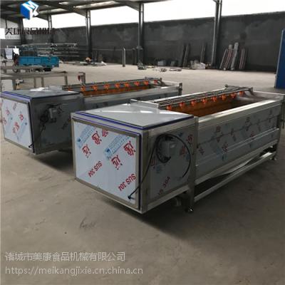 直销安徽1000型大姜毛辊去皮清洗机美康