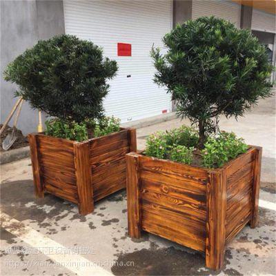 防腐木花盆景观木花箱生产批发