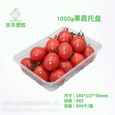 包邮一次性透明塑料水果盒 PET吸塑打包盒 果蔬生鲜肉类托盘