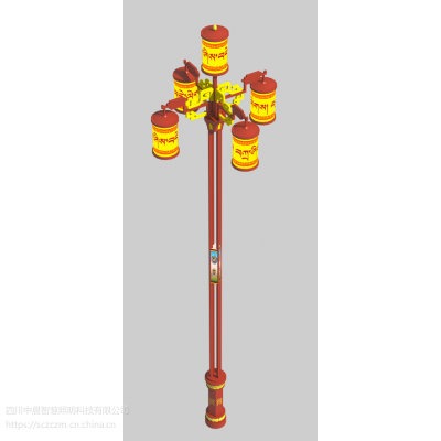 西藏转经筒路灯丶LED藏式景观灯丶藏族特色灯杆-中晨智慧照明