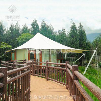 西藏帐篷酒店 户外野奢豪华帐篷酒店 一房一厅42平方 景区民宿特色玻璃篷房