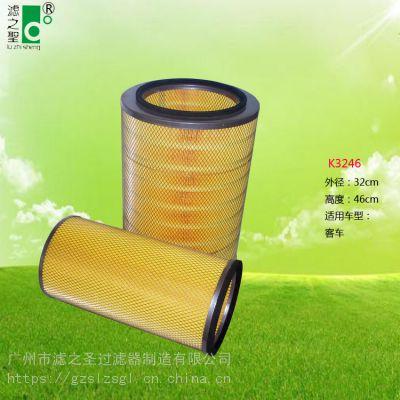 惠州厂家直销 K3246 空气滤清器 汽车空气滤清器 过滤器 空气滤芯