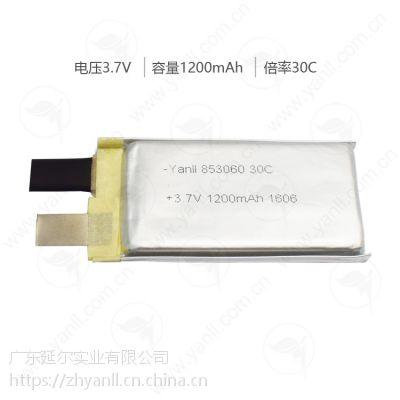 853060 3.7V 1200mAh 30C高倍率聚合物锂电芯