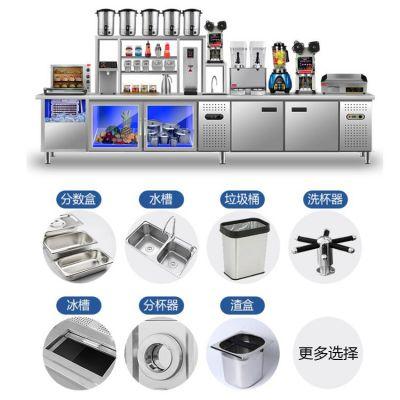奶茶店不锈钢操作台_河南隆恒贸易放心品质、订做奶茶操作台