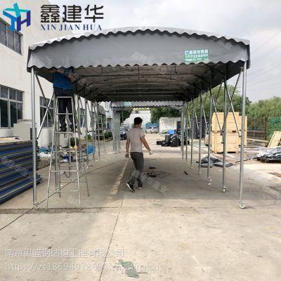 供应伸缩式户外推拉篷_天津大型雨棚布厂家制作