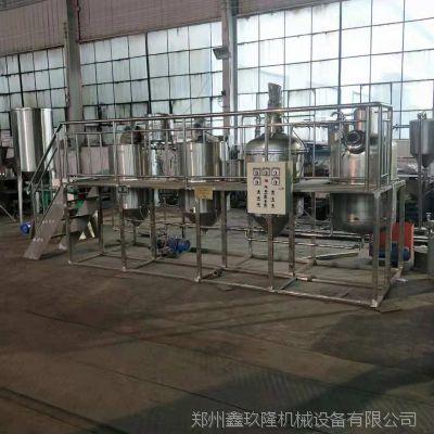 花生油精炼油机 中型精炼油设备 油脂成套设备厂家