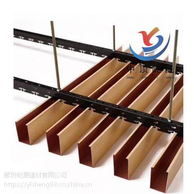 铝制圆通吊顶方管方通木纹转印定制 优质的建材优质的厂家