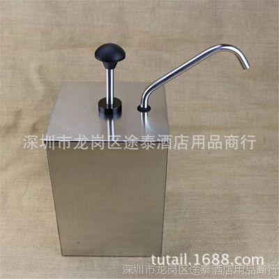 厂家直销304不锈钢酱汁泵三头浆酱料器挤酱泵压汁泵酱浆汁分发器