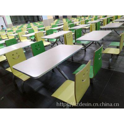 8人玻璃钢饭堂餐桌深圳生产厂家直销 厂价批发