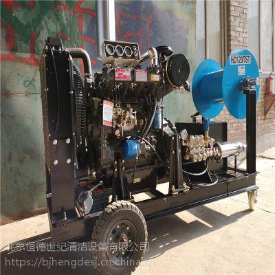 四缸柴油机大流量管道疏通机, 大型管道疏通,市政下水道疏通机