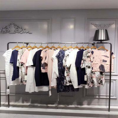 上海七浦路服装批发市场 蘑菇街快手厂家货源 品牌折扣女装走份散挑 中高端真丝连衣裙