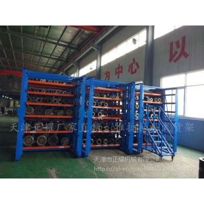 浙江车间板材存放方式 抽屉式货架 板材平放架 方便大容量存储