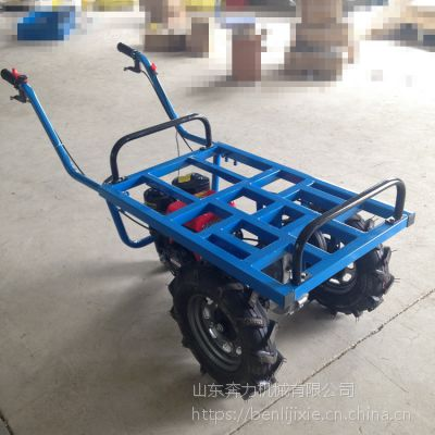 养牛场饲料运输推车 燃汽油的双轮平板车 奔力 SL-BL-1
