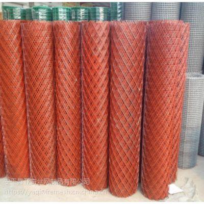 圈玉米80刀菱形拉伸钢板卷网-喷红漆板网厂家