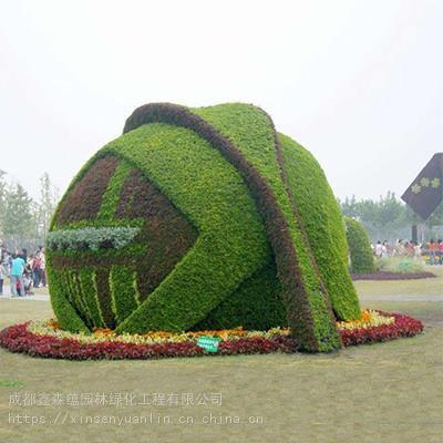 定制仿真爱心型绿雕造型,七夕节定制爱情主题雕塑