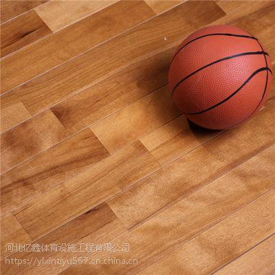 室内篮球场木地板的木材不同 价格差异也比较大
