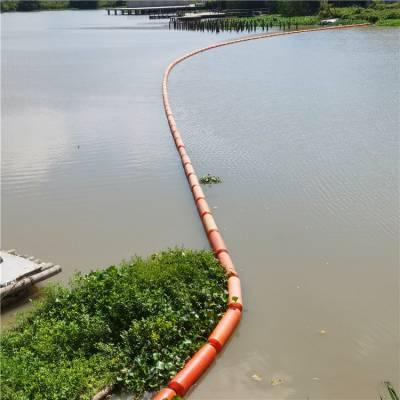 惠州200*1000*40拦污浮筒 河道水葫芦垃圾拦截浮桶