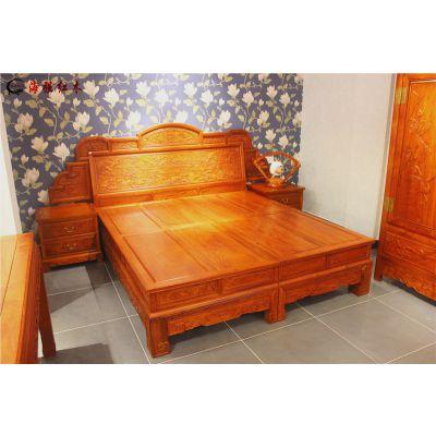 红木家具床_红木床