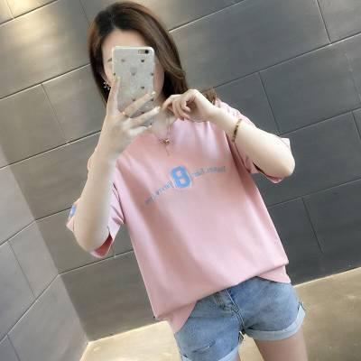 哪里有几元T恤批发女装2019夏装新款 纯棉短袖T恤韩版半袖修身大码纯棉上衣