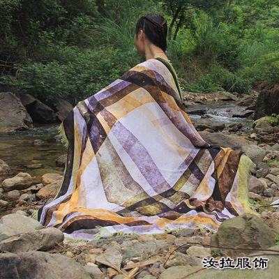 柯桥围巾厂,丝巾加工厂家-到汝拉服饰加工柯桥围巾丝巾